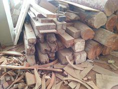 Salvaged hardwood vigas