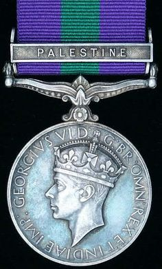 British: General Service Medal with Palestine clasp. 1939-1952