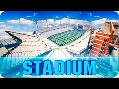 Minecraft - Apogee Stadium - Football Field Recreated in Minecraft - Map w/ Download - YouTube
