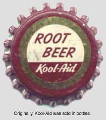 The story of Kool-Aid Bottle Top, Bottle Labels, Old Bottles, Glass Bottles, Root Beer Bottle, Kraft Recipes, Kool Aid, Vintage Tins, Store Signs