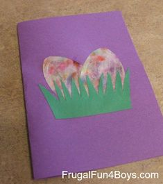 Easter Cards with Marbled Coffee Filter Eggs « Frugal Fun For Boys