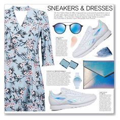 """""""Sporty Chic: Sneakers and Dresses"""" by myduza-and-koteczka ❤ liked on Polyvore featuring Boohoo, Reebok, Rebecca Minkoff, Anja, Ray-Ban, Sisley, Urban Decay and Lacoste"""