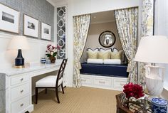 Great look for a home office or stylish teenager's bedroom... New Interior Design Ideas and Paint Colors for Your Home