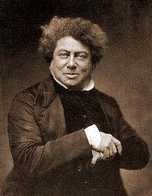Alexandre Dumas, born Dumas Davy de la Pailleterie (24 July 1802 – 5 December 1870) was a French writer, best known for his historical novels of high adventure which have made him one of the most widely read French authors in the world. His novels, The Count of Monte Cristo and The Three Musketeers, were originally serialized. Born in poverty, Dumas was the grandson of a French nobleman and a Haitian slave.