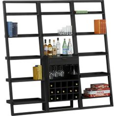 Sloane Grey Leaning Wine Bar I Crate and Barrel