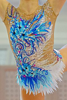 Rhythmic gymnastics leotard close-up                                                                                                                                                                                 More