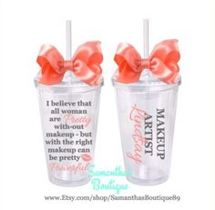 Makeup Quote - Makeup Artist Classic Tumbler With Name by SamanthasBoutique89 on Etsy