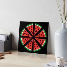 """Watermelon Slices"" Art Board Print by Pultzar   Redbubble"