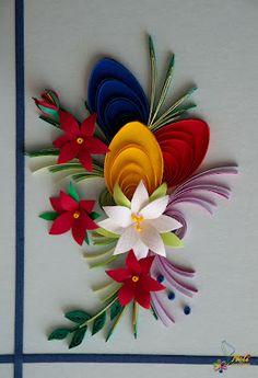 Quilled bouquet