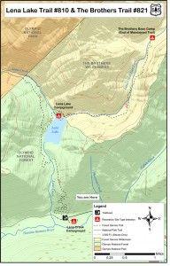 Lena Lake Trail Map, Olympic Peninsula