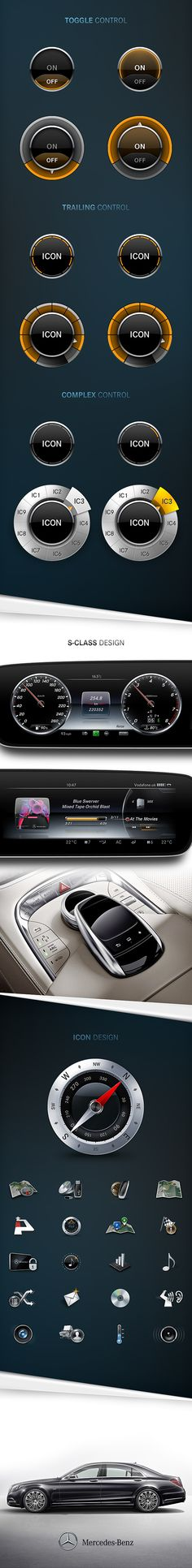 Mercedes-Benz UI/UX by Denny Moritz, via Behance