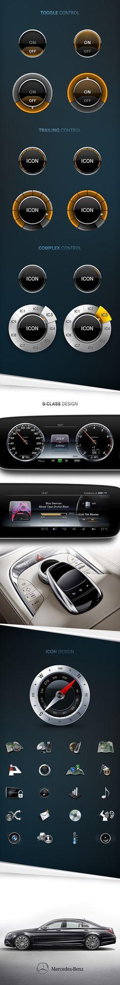 Mercedes-Benz UI/UX by Denny Moritz, via Behance