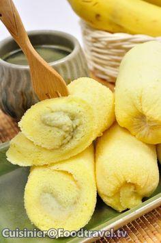 เค้กโรลกล้วย Mini Banana Cake - โตเกียวบานาน่า Tokyo Banana - FoodTravel.tv สูตรอาหาร ทำอาหาร #picture2<input style='width: 400px' type=text value = 'http://data.foodtravel.tv/datastore/recfood/2981/Picture22981_normal.jpg' />