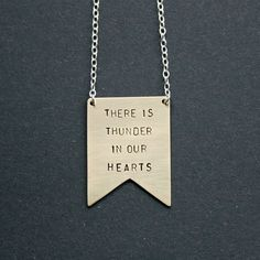 Personalised 'There is Thunder in our Hearts' Necklace #giftideasforhim
