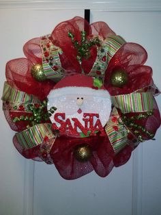 24 in Red Decomesh Wreath Makes a great gift by DesignsByDawson, $50.00