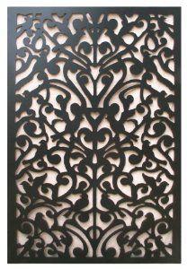 Acurio Ginger Dove Black Vinyl Lattice Decorative Privacy Panel