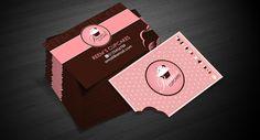 Reem's Cupcakes - Bitten Buisness Card by Redwan Belhadri, via Behance
