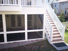 screened in porch underneath a deck | Screened Porches | St. Louis Decks, Screened Porches, Pergolas ...