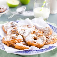 Traditional dutch apple fritters are perfect for an afternoon snack or a way to end dinner on a refreshing but sweet note.
