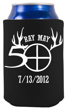 Ray may 50 koozie for a hunter keep your drink cold at the party