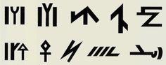 Family Signs - 歴史上、トルコ人は特定の印を家紋として使用してきました。家紋は墓のほか、織物にも使用されました。 ムガール人の歴史家レジドゥチンの著書「Cami-ut Tevarih」と、カスガリ・ムハマトの残した辞書「Divanu Lugat-it-Turk」に、オウズ族のそれぞれの部族が異なる紋章を持っていることが記載されています。この家紋に非常に似た紋章がついた織物がたくさんあるので、これらの部族はアナトリアに移民した後もこれらの紋章を使い続けたに違いありません。「Divanu Lugat-it-Turk」に記載されているオウズのカイ、サルール、バグダズ、バヤット、アブサール、ヤジール、ウードゥル、アイミール、アラユンル、べシーン、カブルダール、セプニ部族の紋章は、以下の通りです。