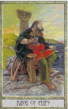 King of Cups - Druidcraft tarot  by Stephanie Carr-Gomm, Philip Carr-Gomm, Will Worthington