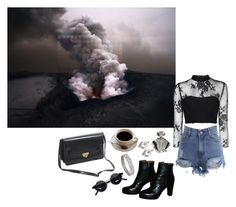 """""""Escalation"""" by blew-the-alien ❤ liked on Polyvore featuring Glamorous, INDIE HAIR, Urban Outfitters, House of Holland and Yochi"""