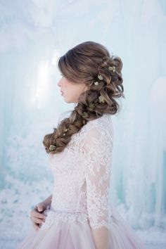 Magical Ice Castle Styled Shoot Agora Floral Co. Tumbleweed Portraits and Photography Beauty Boss Got Married, Getting Married, Ice Princess, Ice Queen, Beauty Photography, Your Hair, Ball Gowns, Hair Makeup, Castle