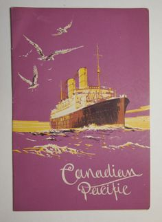 canada/'s spirited ship CANADA vintage ad poster 1929 EMPRESS OF BRITAIN