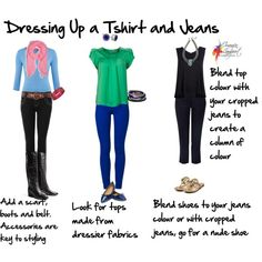 Dressing up a Tshirt and jeans