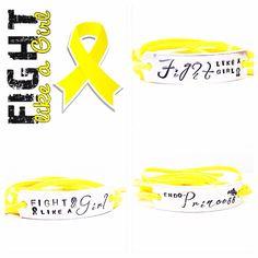 Fight Like a Girl  Wrap Bracelet  by GlamAndCoJewellery on Etsy, £10.00  Endometriosis Bracelet   #endo #fightlikeagirl #endoprincess