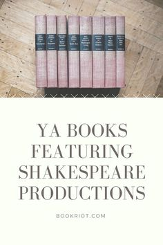 YA books where Shakespearian plays are part of the story. Reading Lists, Book Lists, Ya Books, Books To Read, High School Drama, Shakespeare Plays, Book Of Life, Book Recommendations, Lesson Plans