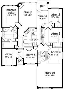 eplan HWEPL63720; 5 bed/2 ba; 2300 sq ft; rework bed 5 into laundry/mud/3rd bath