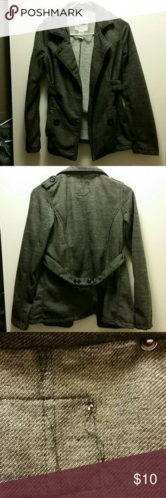Wet Seal Jacket Large Cute jacket. Seems to be on the smaller side. I would medium nut tag reads large. Has small hole under collar in back and missing button.  Still super cute. Wet Seal Jackets & Coats Blazers