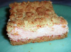 CHERRIES JUBILEE CHEESECAKE BARS Recipe 2   Just A Pinch Recipes (uses cherry chip cake mix!)