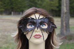 leather leaf bug mask by TBTOBEDESIGNED1 on Etsy