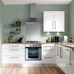 new ideas for kitchen renovation white cupboards Sage Green Kitchen, Green Kitchen Walls, Kitchen Wall Colors, New Kitchen, Kitchen Decor, Kitchen Wood, Green Sage, Kitchen Ideas, Kitchen Unit Handles