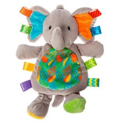 Taggies Little Leaf Elephant Lovey Custom Printed Fabric, Printing On Fabric, Toys For Boys, Kids Toys, Baby Must Haves, Baby Elephant, Soft Fabrics, Boy Or Girl, Dinosaur Stuffed Animal