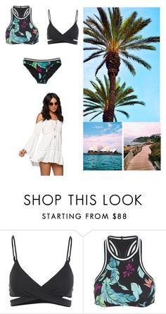 """""""Summer beach"""" by dianthesiva ❤ liked on Polyvore featuring L*Space, Seafolly, PacSun, GetTheLook, Summer, beach and Swimsuits"""