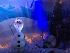 3D Olaf and MDF Sven. Olaf approx 4ft high.  All handmade and Handpainted.