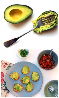 Smashed Avocado & Tomato Bruschetta - Perfect for parties #Yum #Recipes #Appetizers