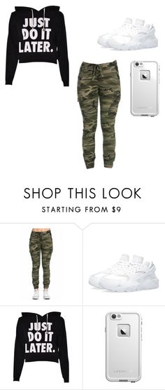 """""""Untitled #12"""" by dashyralee ❤ liked on Polyvore featuring beauty, NIKE and LifeProof"""