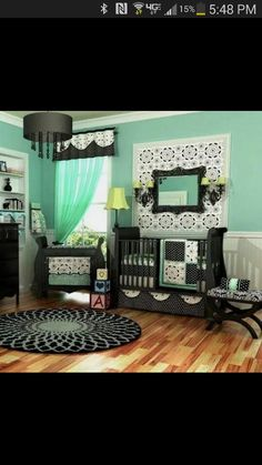 I love this baby room for a girl or a boy
