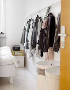 Could this be a secret space-efficient way to hang some shirts?