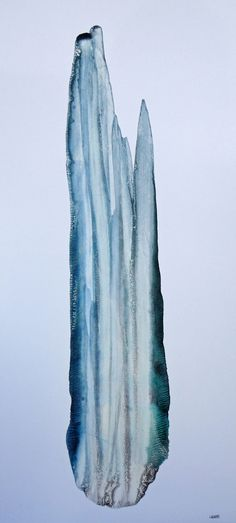 FRACTAL #8 Oil dispersion / paper 88 x 40 cm
