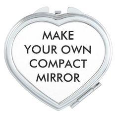 Custom Personalized Heart Shaped Compact Mirror  $15.95  by MakeYourOwnCustom  - custom gift idea