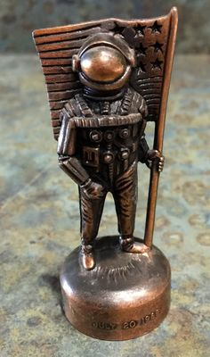 Vintage Brass Cast Man on The Moon Pencil by LeftoverStuff on Etsy