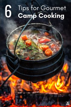Take your camp cooking from drab to dazzling with six tips for gourmet camp cooking. You'll be wowing your camping buddies in no time! Hunters Stew, Camping Meals, Camping Recipes, Camping Hacks, Camping Stuff, Camping Cooking, Camping Guide, Camping Checklist, Oven Cooking