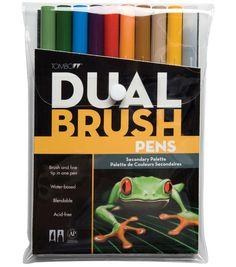 Tombow Dual Brush Pen Set - 10PK/Secondary