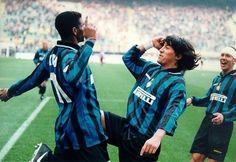 Kanu ,Zamorano y Simeone Inter de Milán